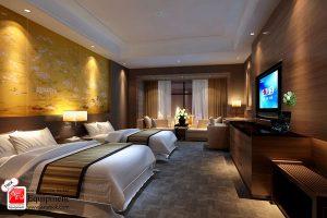 سه قانون برای نورپردازی اتاق هتل-- 615